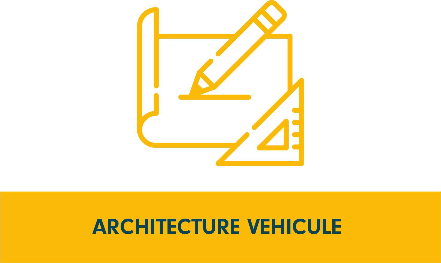 Pictogramme programme de recherche architecture véhicule