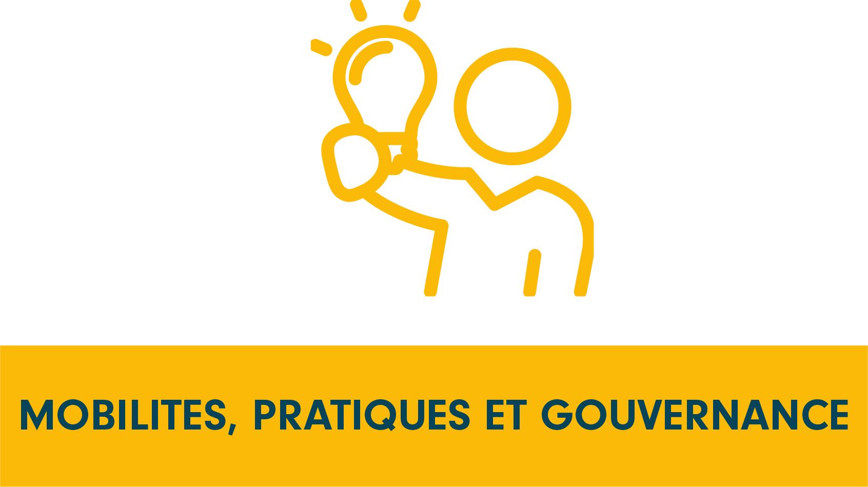 Pictogramme programme de recherche, mobilité, pratiques et gouvernance