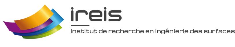 Logo Ireis, sur le stand du think tank