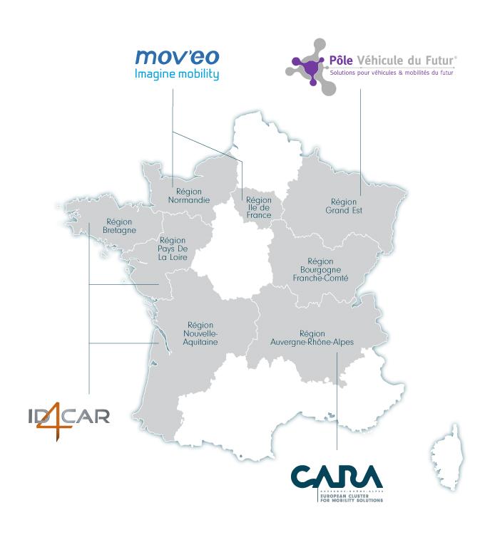 Les 4 pôles auto mobilité français